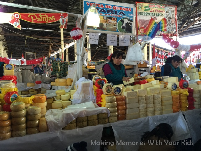 Cheese For Sale from the San Pedro Market in Cusco, Peru