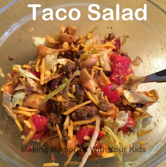 Taco Salad with Fritos and Catalina Dressing