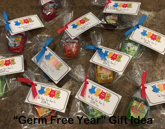 A germ free gift idea free printable making memories with your have a germ free year gift idea with free printable teacher gift idea negle Gallery