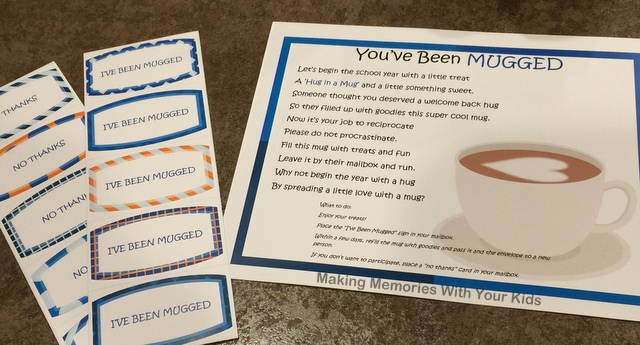 You've Been Mugged - Fun Work Gift Idea with Free Printable