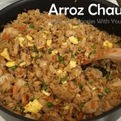 Arroz Chaufa - Peruvian Fried Rice with Shrimp and Chicken