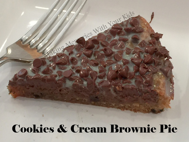 Cookies and Cream Brownie Pie