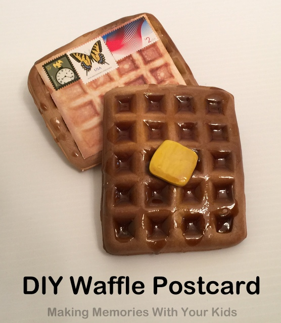DIY Waffle Postcard Tutorial - Fun Things You Can Mail
