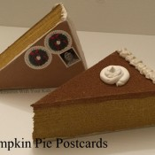 Pumpkin Pie Postcards - Thanksgiving Card to Make
