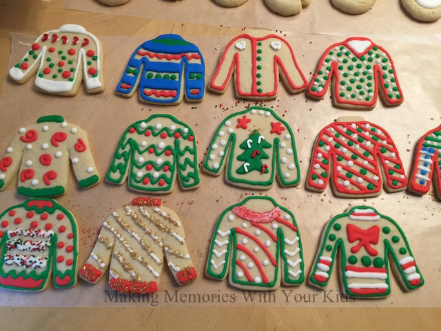 b3685aa065e774 Ugly Christmas Sweater Cookies - Making Memories With Your Kids
