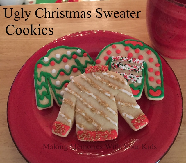 Ugly Christmas Sweater Decorated Sugar Cookies