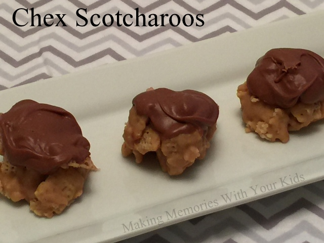 Chex Scotcharoos - the perfect combination of chocolate, peanut butter and butterscotch