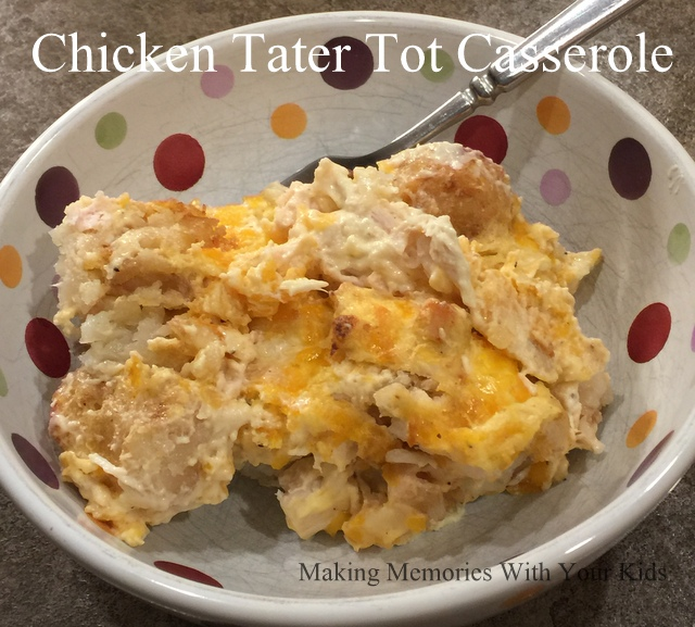 Chicken Tater Tot Casserole - Delicious Comfort Food