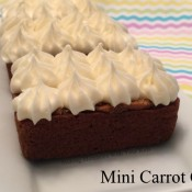Mini Carrot Cakes with Cream Cheese Frosting