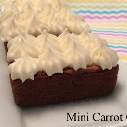 Mini Carrot Cakes with Cream Cheese Frosting {Secret Recipe Club}