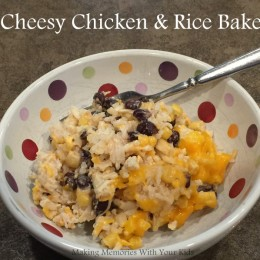 Cheesy Chicken and Rice Bake {Secret Recipe Club}