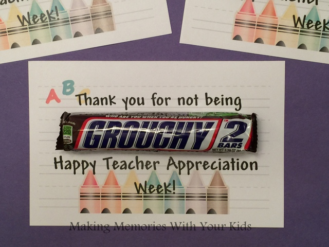 Teacher Appreciation Gift with Free Tag - Snickers Candy Bar