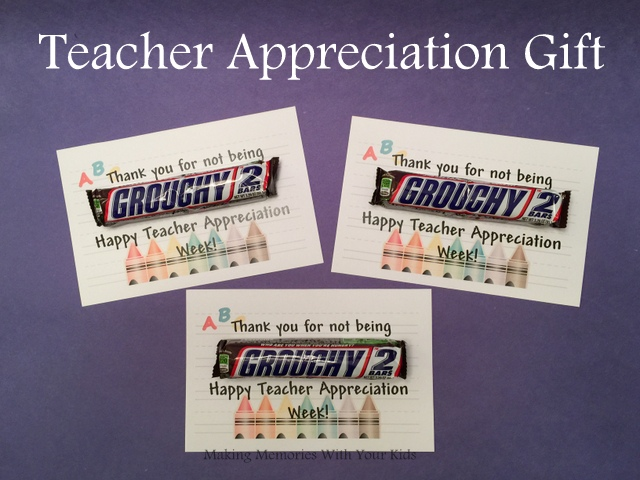teacher appreciation with snickers | just b.CAUSE