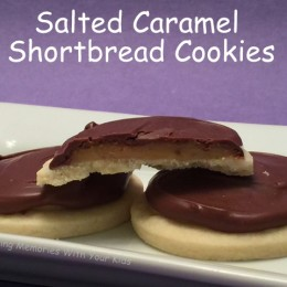 Salted Caramel Shortbread Cookies {Secret Recipe Club}