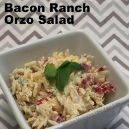 Bacon Ranch Orzo Salad {Secret Recipe Club}