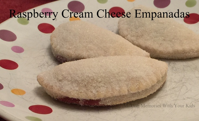 Raspberry Cream Cheese Empanadas