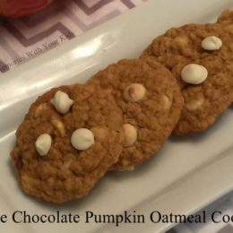 White Chocolate Pumpkin Oatmeal Cookies {Secret Recipe Club}