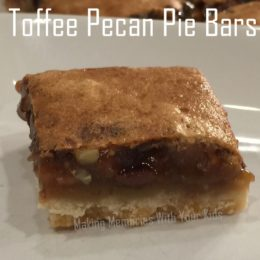 Toffee Pecan Pie Bars