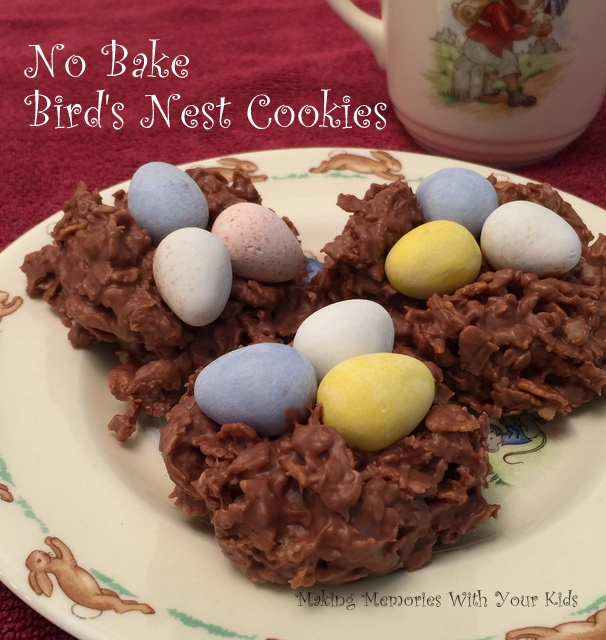 No Bake Bird's Nest Cookies for Easter