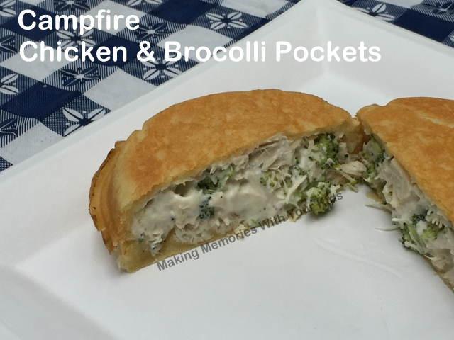 Campfire Chicken and Brocolli Pockets