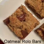 Oatmeal Rolo Bars