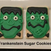 Frankenstein Sugar Cookies for Halloween