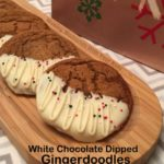 White Chocolate Dipped Gingerdoodles