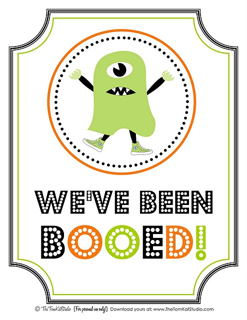 This is a graphic of You've Been Booed Printable in halloween boo